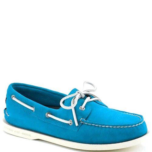 Топсайдеры Sperry мужские замшевые голубого цвета, фото