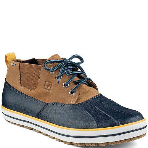 Ботинки Sperry Top-Sider Drake Chukka бежевые с синим, фото