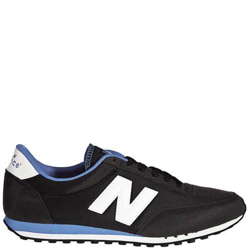 Кроссовки New Balance мужские 410 черные с голубым, фото