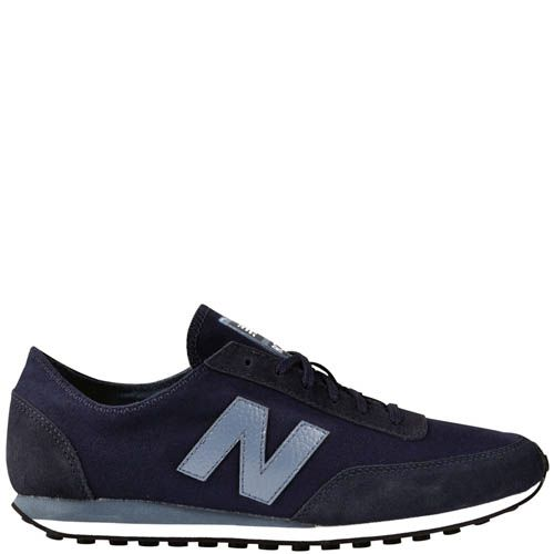 Кроссовки New Balance UC410B мужские замшевые темно-синего цвета, фото