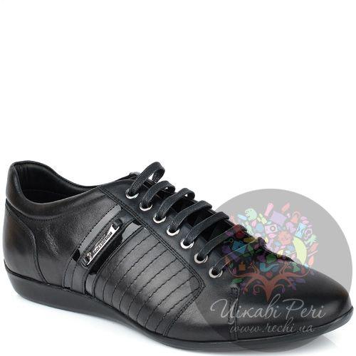 Кеды Versace Collection черные кожаные, фото