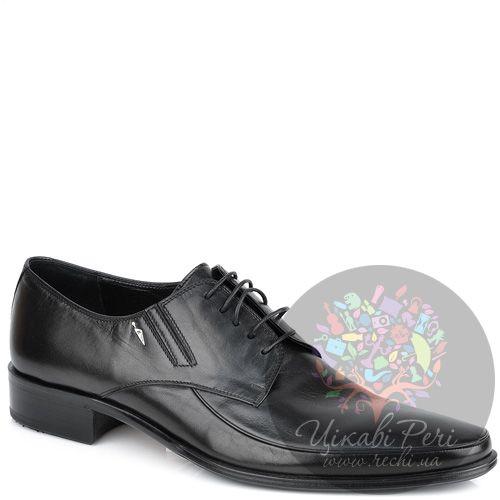 Туфли-дерби Valerio Neri черные кожаные классические, фото