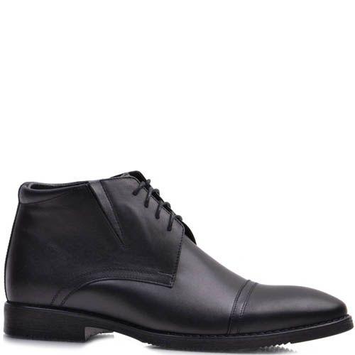 Ботинки Prego зимние высокие черного цвета со строчками поперек носка, фото