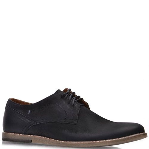 Туфли Prego из натурального черного нубука на термополиуритановой подошве, фото