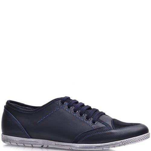 Кеды Prego мужские синего цвета с замшевым носком, фото