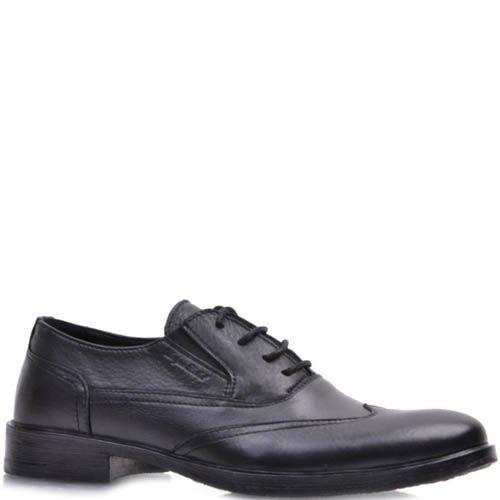 Туфли Prego черного цвета из мягкой матовой кожи, фото