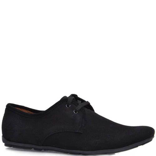 Туфли Prego мужские замшевые черного цвета, фото