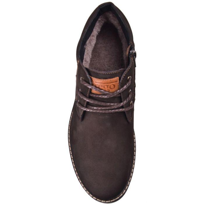 Ботинки зимние Lucky Choice темно-коричневый нубук