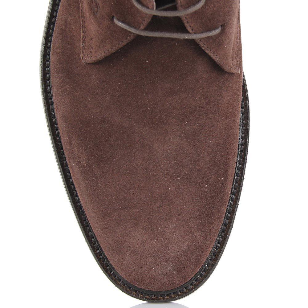 Мужские ботинки Samsonite из натуральной замши коричневого цвета на шнуровке