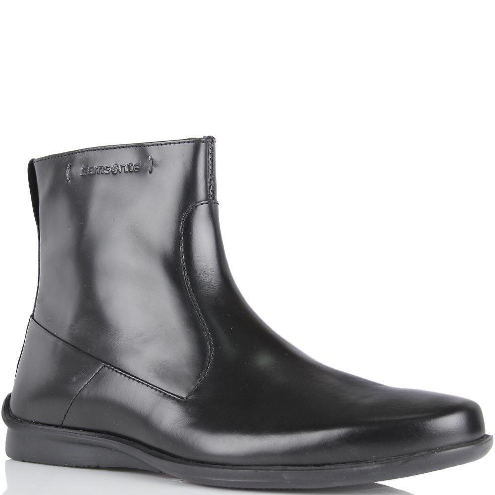 Высокие ботинки Samsonite из натуральной полированной кожи