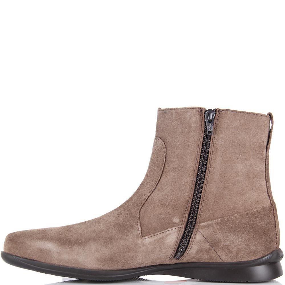 Высокие мужские ботинки Samsonite из натуральной замши бежевого цвета