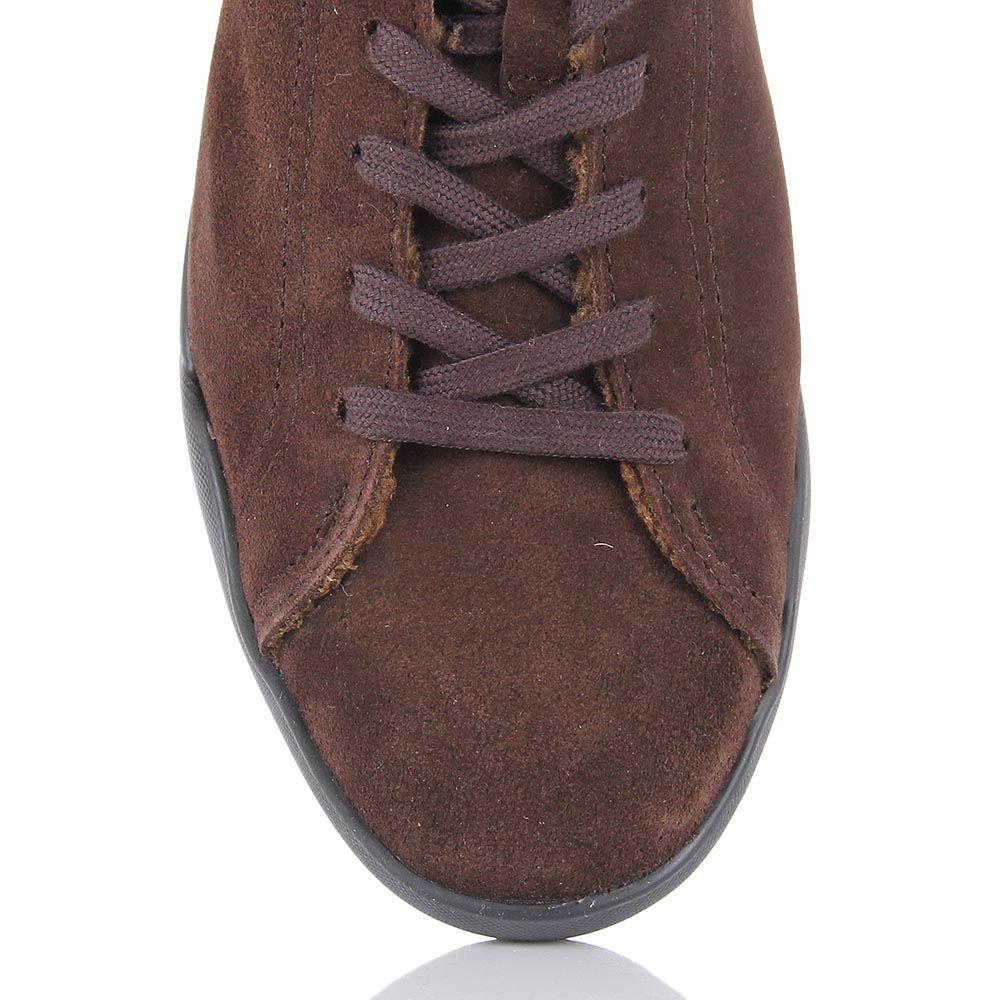 Ботинки Samsonite из натуральной замши шоколадного цвета на меху