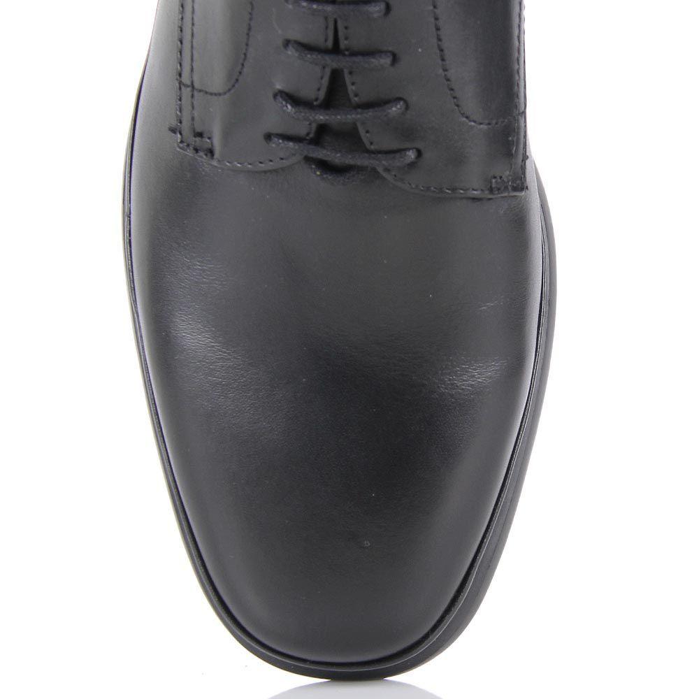 Мужские демисезонные туфли Samsonite из натуральной кожи черного цвета