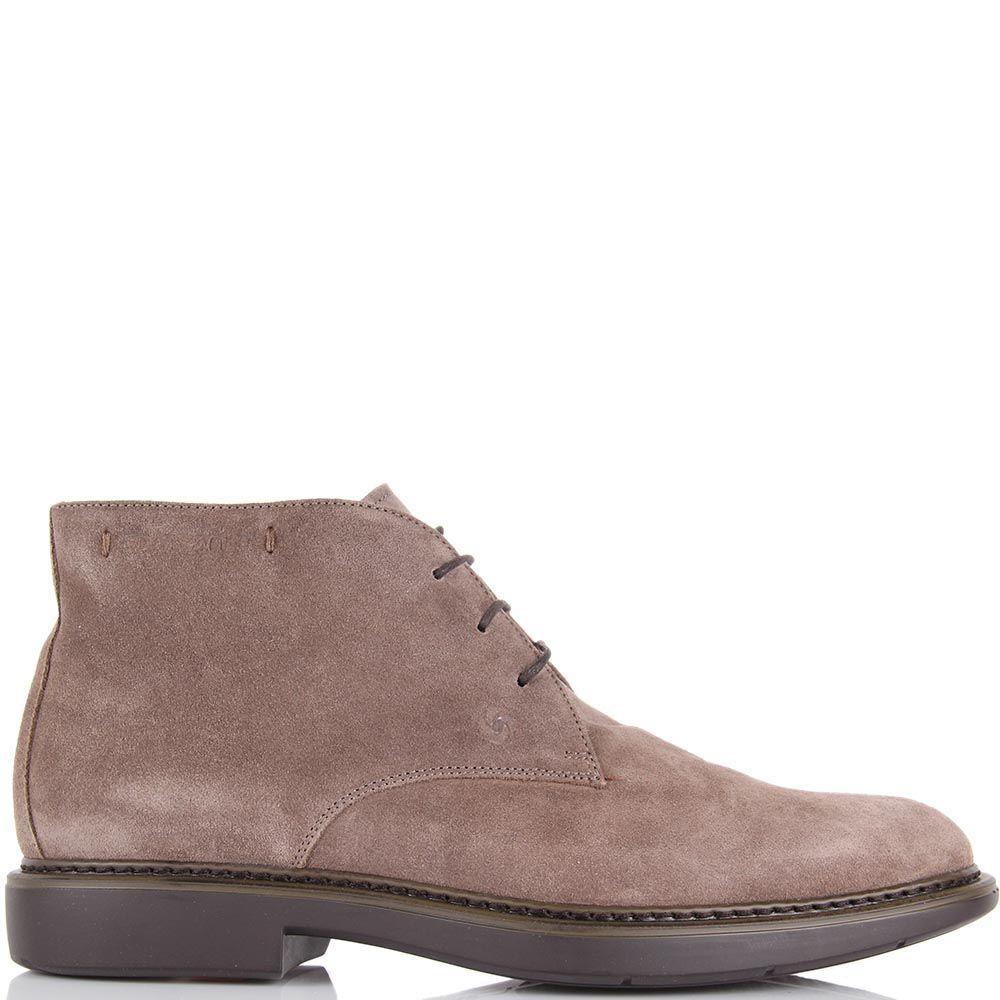 Мужские ботинки Samsonite из натуральной замши бежевые
