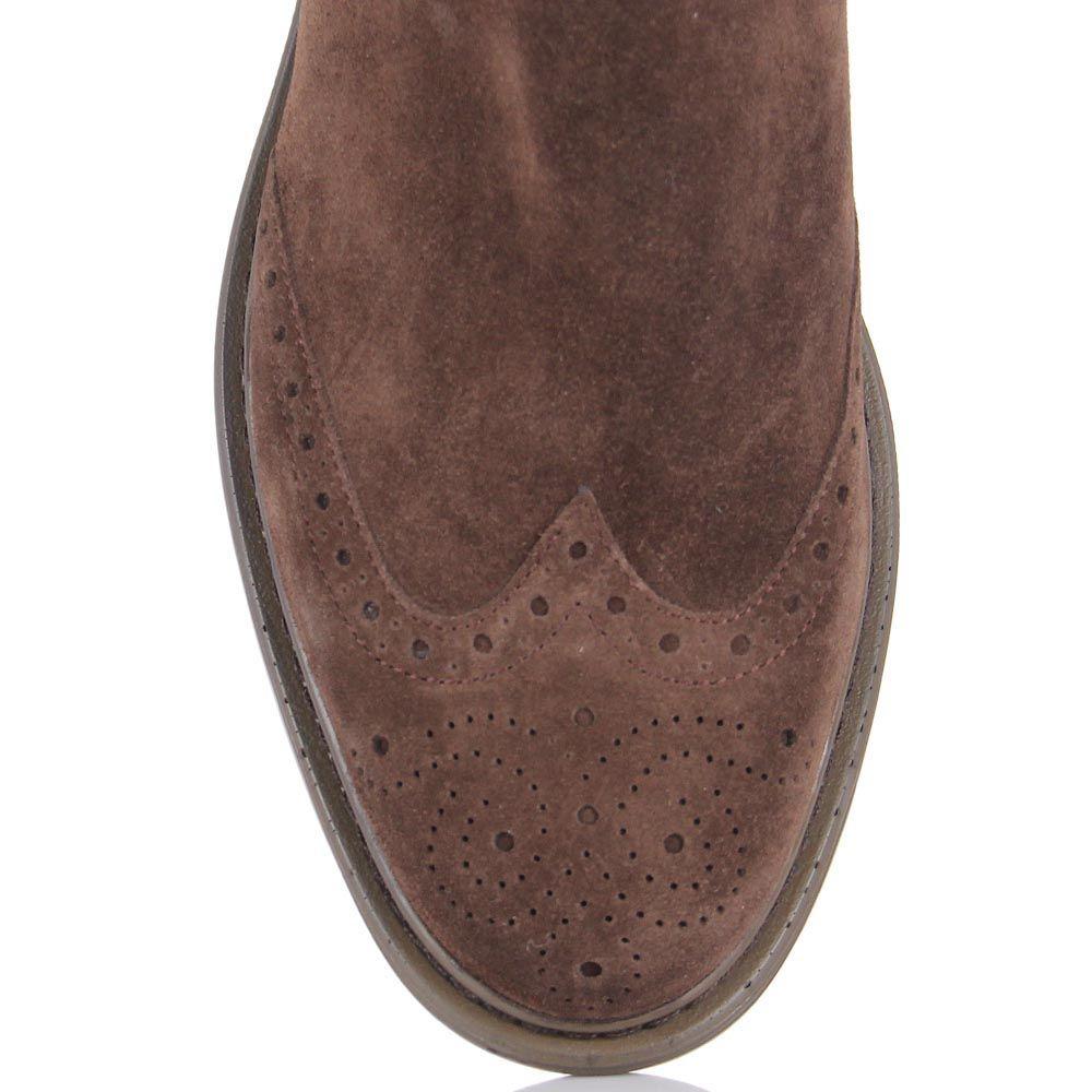 Демисезонные ботинки Samsonite из натуральной замши с перфорацией