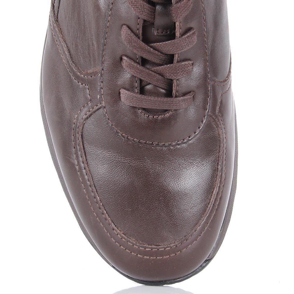 Кожаные кроссовки Samsonite коричневого цвета