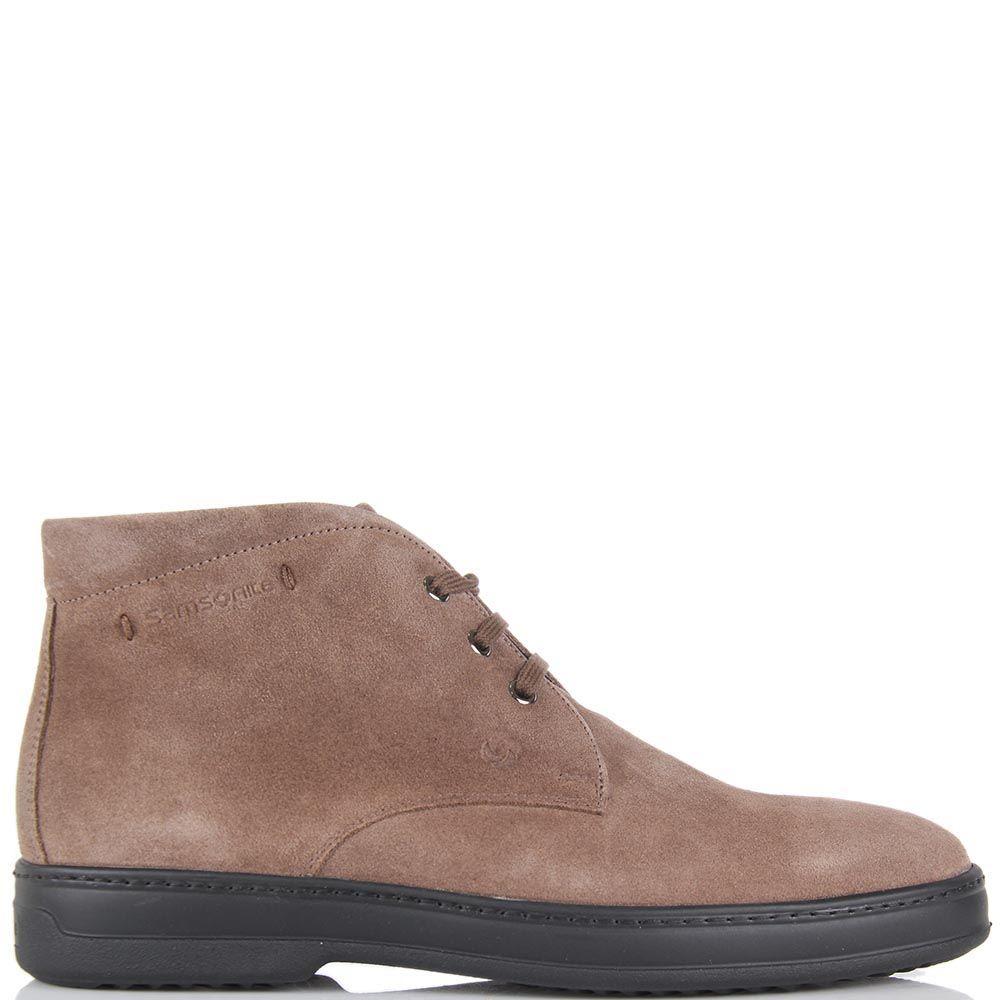 Мужские демисезонные ботинки Samsonite бежевого цвета на высокой подошве