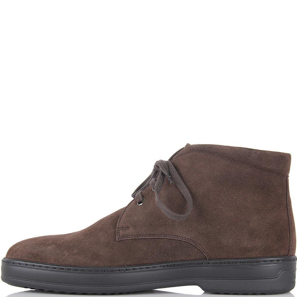 Замшевые ботинки Samsonite на высокой подошве и шнуровке