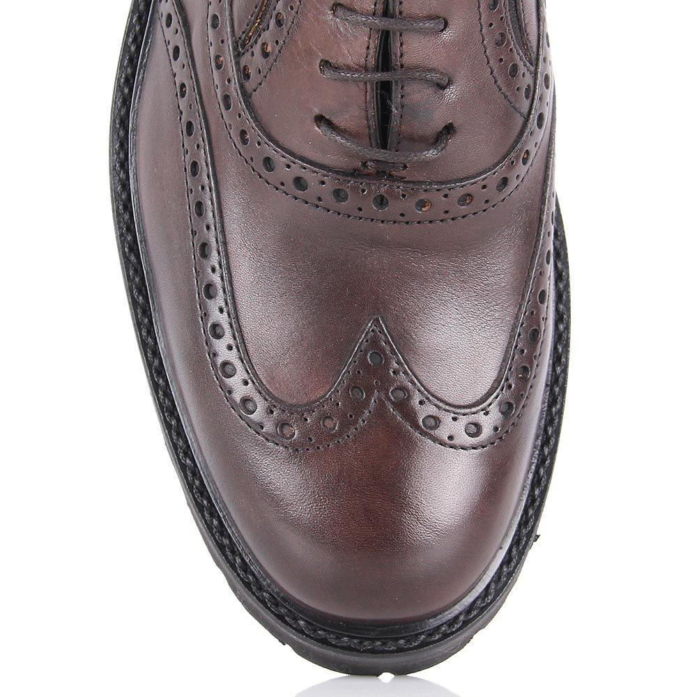 Туфли-броги Samsonite из кожи коричневого цвета