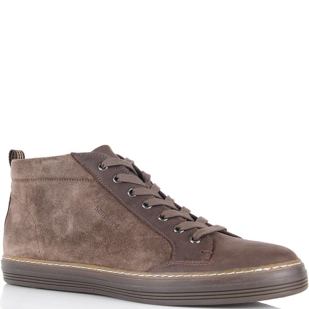 Мужские ботинки Samsonite коричневого цвета замшевые