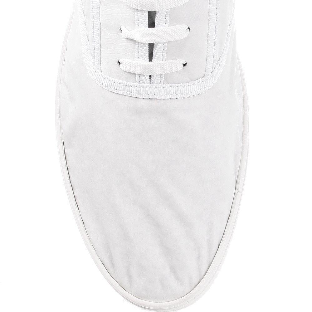 Легкие мужские мокасины Bikkembergs белого цвета с брендированными полосками