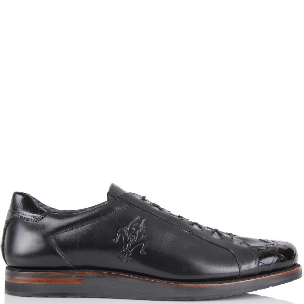 Мужские туфли Pakerson черного цвета на толстой подошве