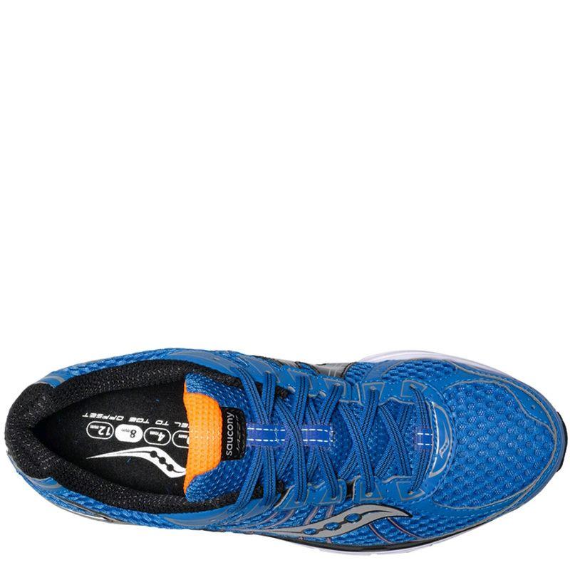 Беговые мужские кроссовки Saucony ProGrid Jazz 17 темно-синие с оранжевым