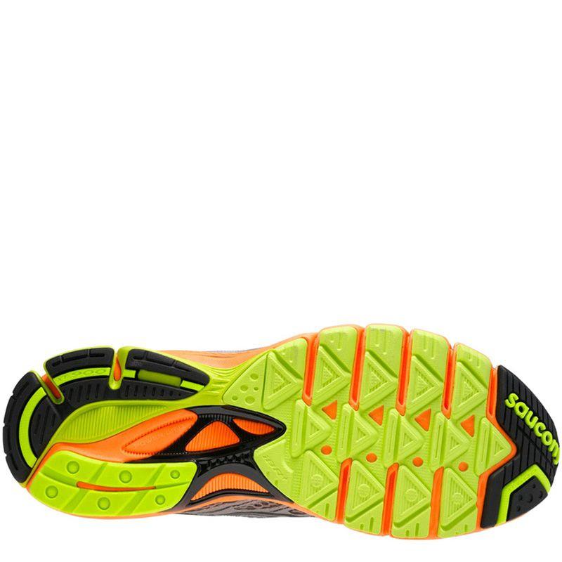 Универсальные мужские кроссовки Saucony Ride 6 ViZiGLO серые с оранжевым и желтым