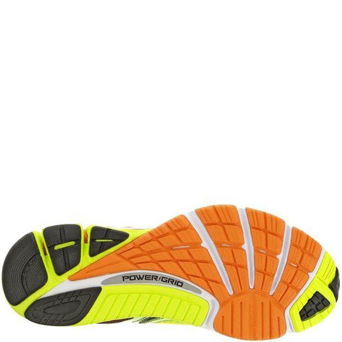 Легкие беговые мужские кроссовки Saucony Cortana 4 неоново-зеленые с черным и оранжевым