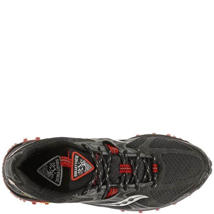 Беговые кроссовки Saucony XODUS 5,0 GTX черные с красным