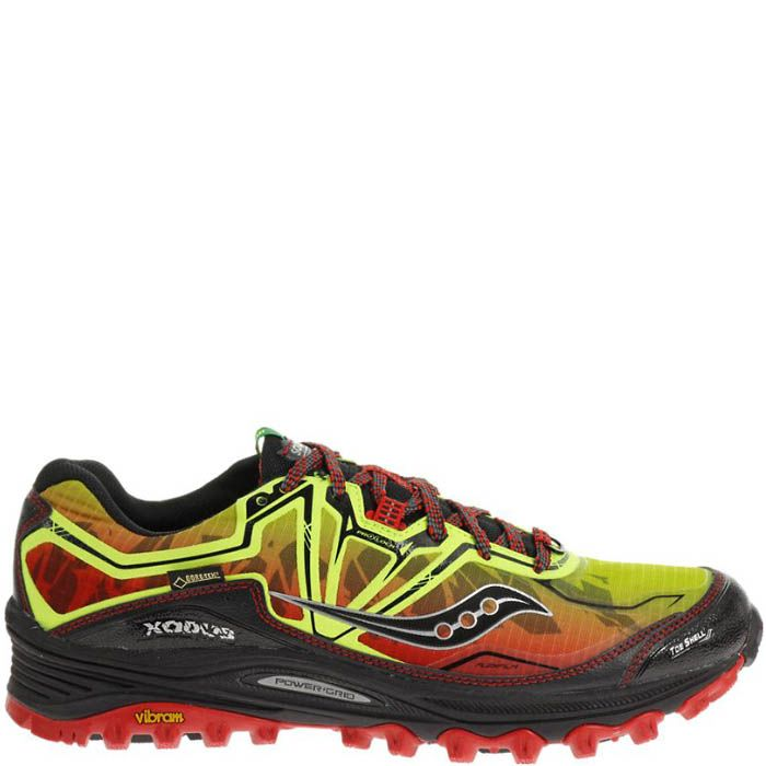 Кроссовки Saucony Xodus 6.0 Gtx Citron-Red-Black мужские