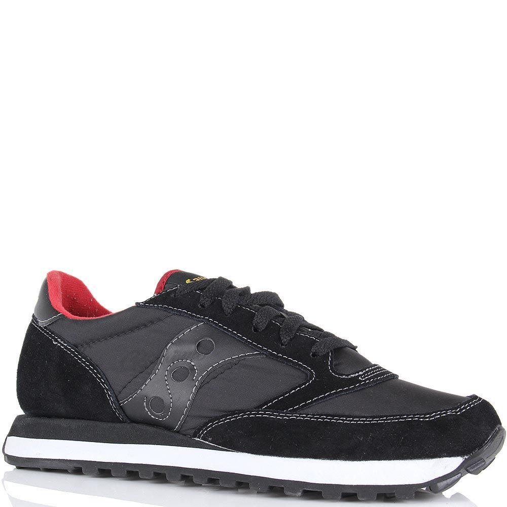 Мужские кроссовки Saucony Jazz Original черные с красными вставками