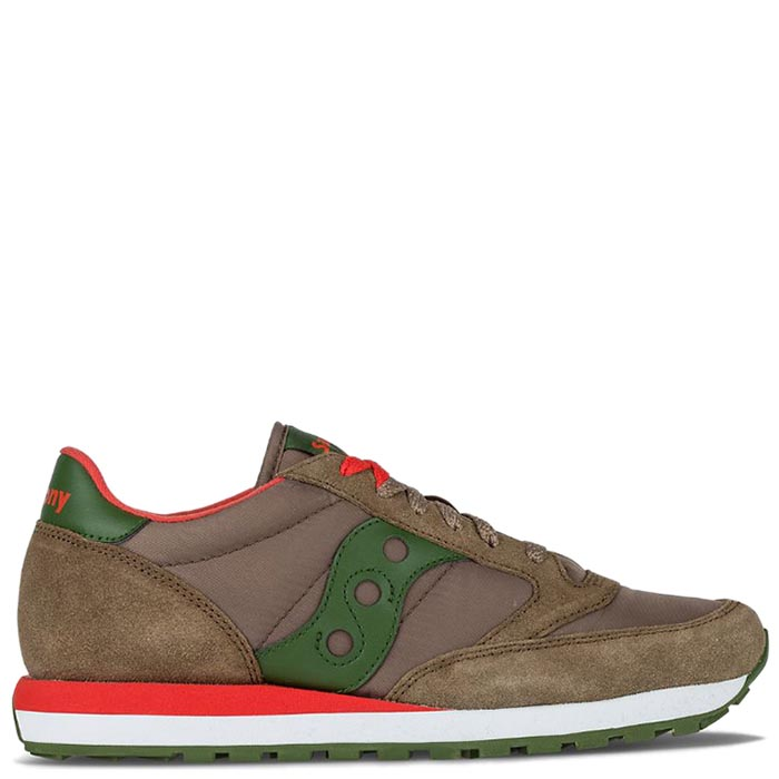 Кроссовки Saucony JAZZ ORIGINAL 2016'WA коричневые с зеленой вставкой