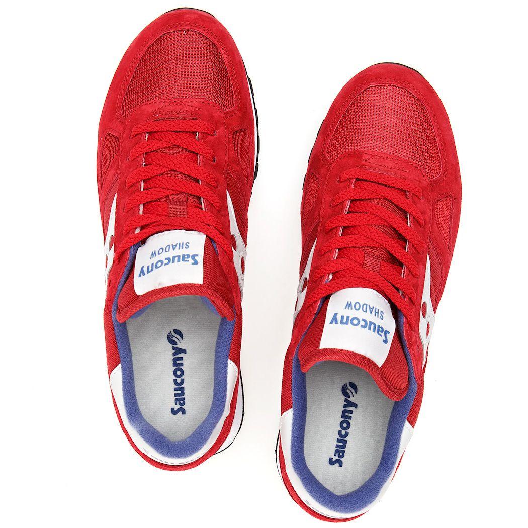 Мужские кроссовки Saucony Shadow Original красные с синим
