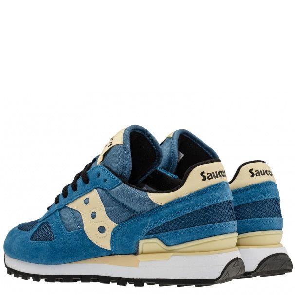 Мужские кроссовки Saucony Shadow Original синие с кремовым