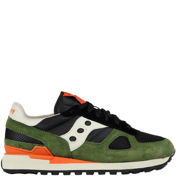 Мужские кроссовки Saucony Shadow Original зеленые с оранжевым и черным