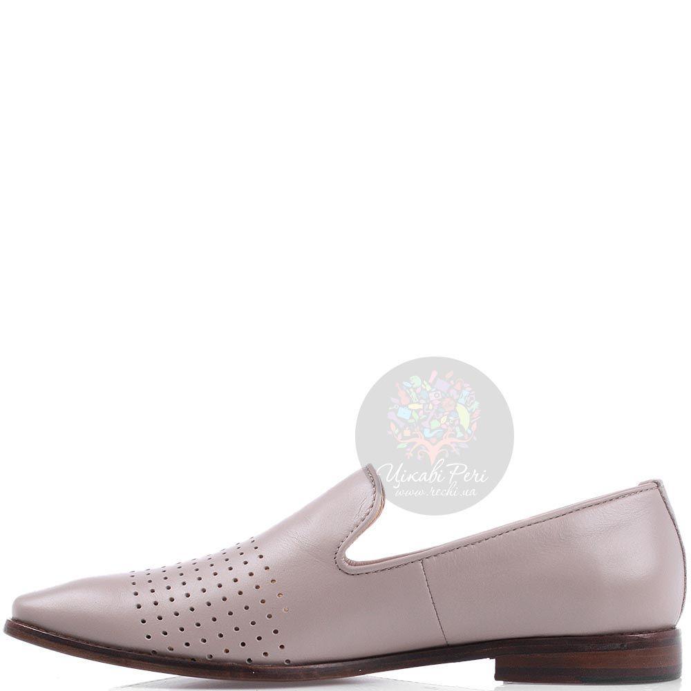Мужские туфли Modus Vivendi из кожи бежевого цвета на коричневой подошве