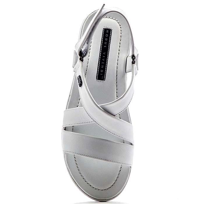 Мужские сандалии Modus Vivendi из натуральной кожи белого цвета