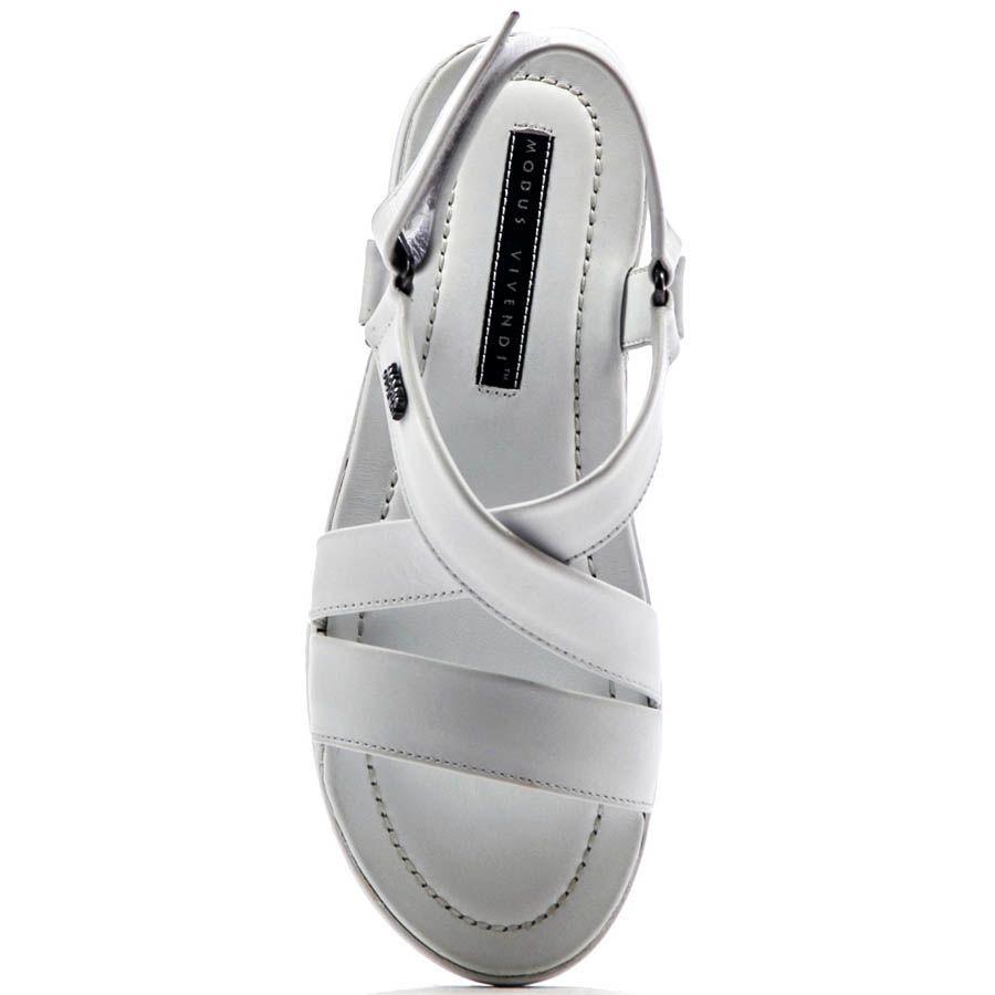 Сандалии Modus Vivendi белого цвета кожаные