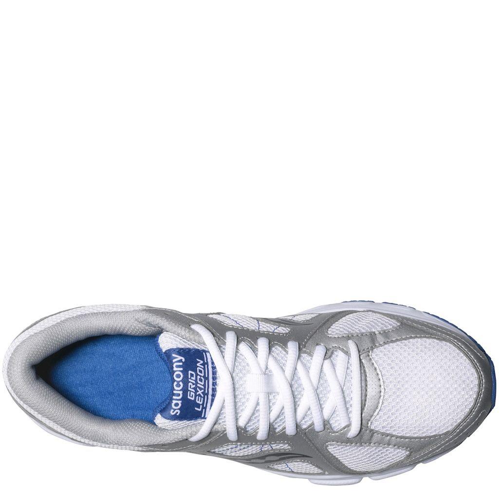 Мужские беговые кроссовки Saucony Grid Lexicon светло-серые с белым и синим