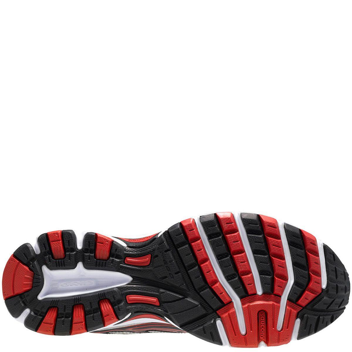 Мужские беговые кроссовки Saucony Cohesion 7 черно-серебристые с красным