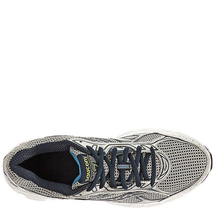 Мужские беговые кроссовки Saucony Cohesion 7 серебристо-черные с голубым