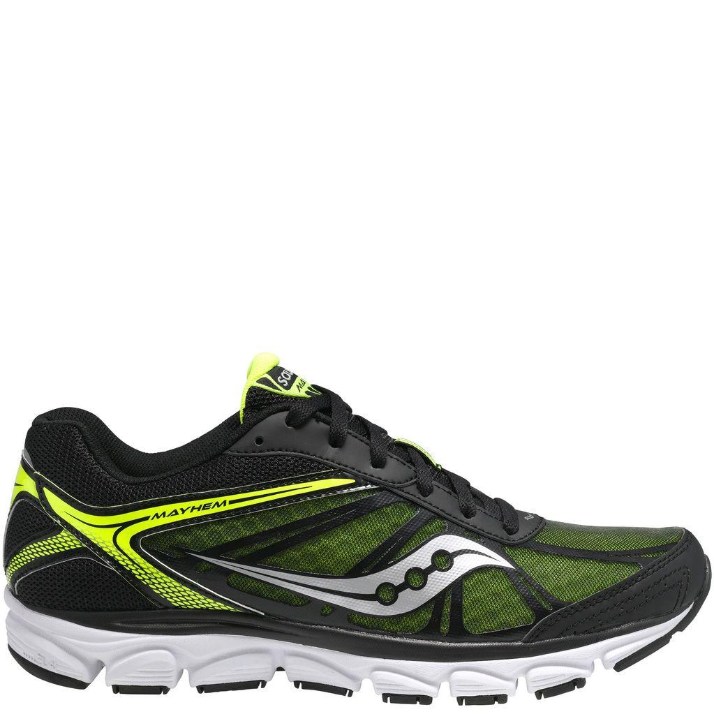 Мужские беговые кроссовки Saucony Grid Mayhem черные с зеленым и желтым
