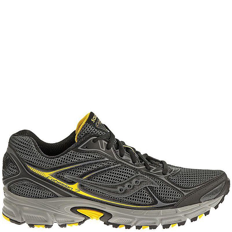 Мужские беговые кроссовки Saucony Cohesion TR7 серо-черные с желтым