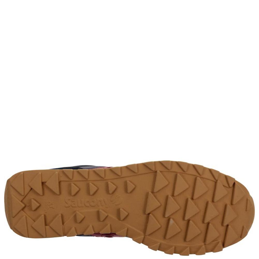 Кроссовки Saucony Jazz Lowpro синего цвета с красными шнурками