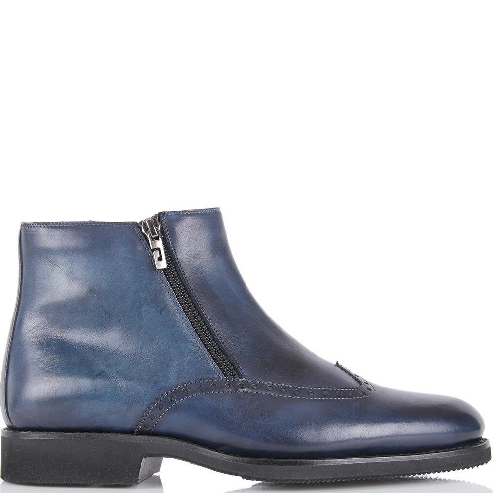 Мужские ботинки на меху Pakerson приглушенно-синего цвета