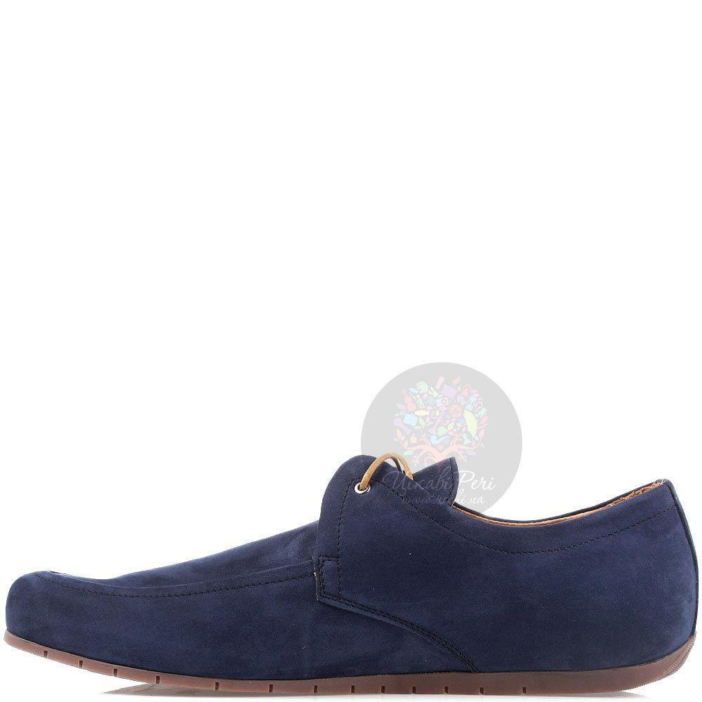 Туфли-мокасины Modus Vivendi из нубука синего цвета
