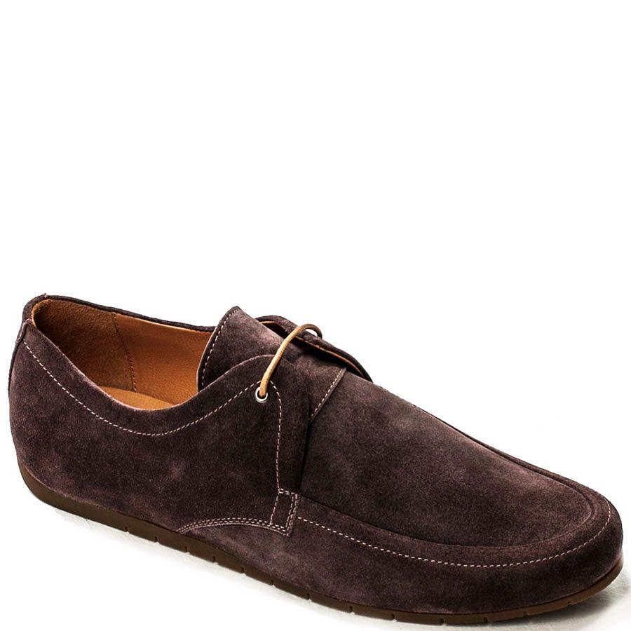 Туфли-мокасины Modus Vivendi из нубука коричневого цвета