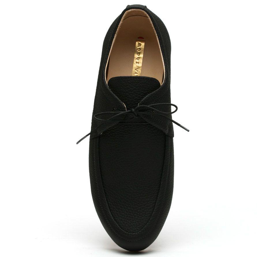 Мокасины Modus Vivendi из мягкой кожи на шнурках черного цвета