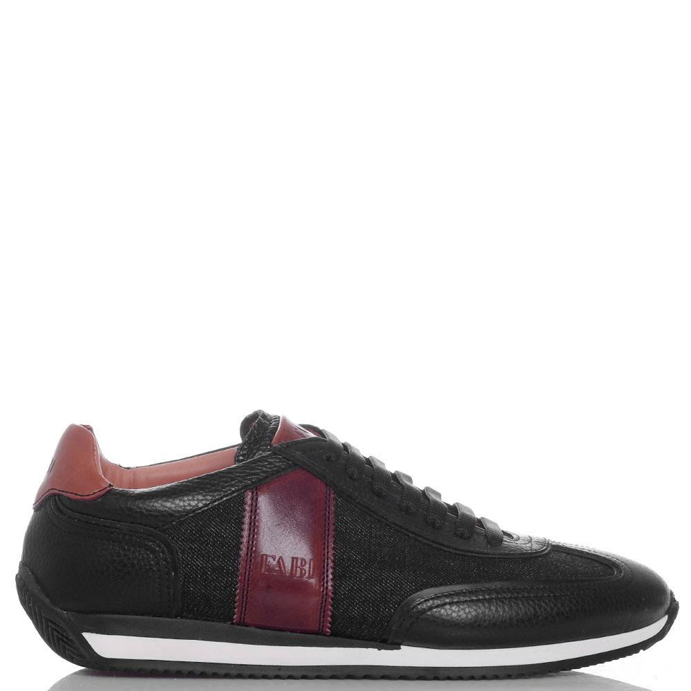 Черные кроссовки FABI с кожаными вставками